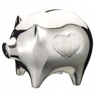 Wedgwood Silver Plated Baby Piggy Bank by Vera Wang