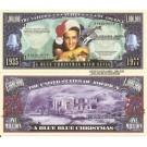 Novelty Dollar Elvis Presley a Blue Christmas Million Dollar Bills x 4 King of Rock N Roll