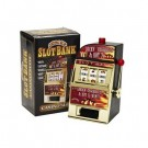 MINI ONE ARMED BANDIT LIGHT +NOISE - SLOT BANK FRUIT MACHINE - NEW AND BOXED