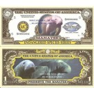 Novelty Dollar Manatee Endangered Species One Million Dollar Bills X 4