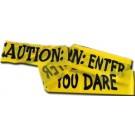 """Halloween Decoration - 6m Halloween Fright Tape, Large 3"""" x 236"""" (20 ft apx) CAUTION: ENTER IF YOU DARE"""