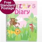 Personalised Girls Animal Alphabet Diary
