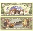 Novelty Dollar Crazy For Cats 9 Dollar Cat Kitten Bills X 4 New Cute