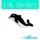 16GB Novelty Cartoon Lovely Black Dolphin USB Flash Key Pen Drive Memory Stick Gift UK