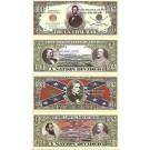 Novelty Dollar Us Civil War 1861-1865 Lincoln Davis Dixie Dollar Bills