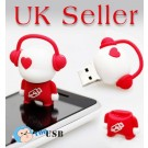 4GB Novelty Cartoon Red Music Boy USB Flash Key Pen Drive Memory Stick Gift UK [PC]