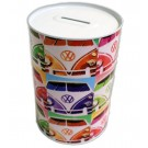 VW Volkswagen Camper Van Tin Can Money Box - Large