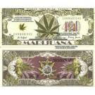 Novelty Dollar Medical Marijuana Cannabis Sativa 420 Dollar Bills X 4