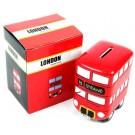 London Route Master Bus Ceramic Money Box