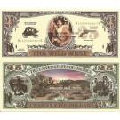 Novelty Dollar Wild West Cowboy Western Dead Or Alive Dollar Bills X 4