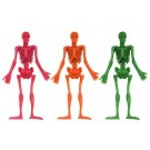 Pack of 4 Stretchy Skeletons - Great Halloween Party Bag Fillers