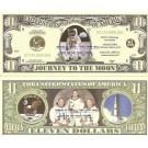 Novelty Dollar Space Shuttle Apollo 11 Columbia Challenger Bills X 6