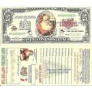 Novelty Dollar Santa Claus St Nicholas Christmas 25 Dollar Bills X 4