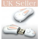 4GB Novelty Cartoon Cute White Rabbit USB Flash Key Pen Drive Memory Stick Gift UK [PC]