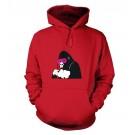 "Gorilla Mask Banksy Adult Hoodie Medium (40"") Fire Red"