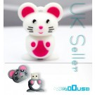 16GB Novelty Cartoon Cute White Mouse USB Flash Key Pen Drive Memory Stick Gift UK [PC]