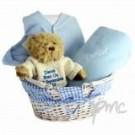 Personalised Blue Baby Basket