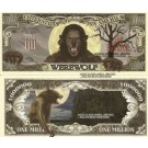 Novelty Dollar Werewolf Lycanthrope Million Dollar Bills x 4 Full Moon Silver Bullets Halloween Gift