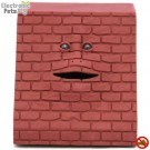 Face Bank Munching Money Box Face - Brown Brick