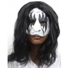 Halloween Ball Masquerade Facial Long Wig Mask