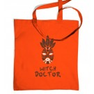 Witch Doctor Mask Tote Bag - Inspired By Diablo 3 (One Size Tote Bag/Orange)