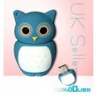 4GB Novelty Cartoon Cute Blue Owl USB Flash Key Pen Drive Memory Stick Gift UK [PC]