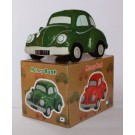 Beetle Ceramic Car Money Box, Money Bank in Green, Red or Navy Blue (Piggy Bank) (Green)