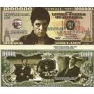 Novelty Dollar Scarface Al Pacino Tony Montana Dollar Bills X 4