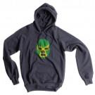Wrestling Mask Hoodie, Asphalt, Large