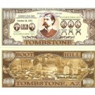Novelty Dollar Tombstone Wyatt Earp Gunfight Ok Corral Boot Hill Million Dollar Bills x 4