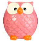 Large Bright Owl Money Box - Pink