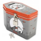 'True Love Forever' Coffin shaped Vampire Sheep tin money box with padlock and 2 keys Sheepworld