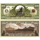 Novelty Dollar Wolves Howling Wolf One Million Dollar Bills X 4