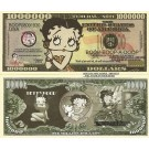 Novelty Dollar Betty Boop Queen Of The Animated Screen Dollar Bills X 4