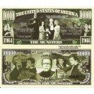 Novelty Dollar The Munsters 1964 1966 Million Dollar Bills x 4 New