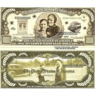 Novelty Dollar Bonnie And Clyde Barrow $100,000 Dollar Bills X 4 New