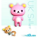 4GB Novelty Cartoon Cute Pink Bear USB Flash Key Pen Drive Memory Stick Gift UK [PC]