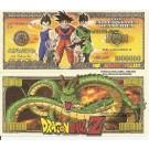 Novelty Dollar Dragonball Z Power Level Million Dollar Bills X 4 NEW
