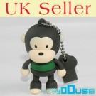 16GB Novelty Cartoon Cute Brown Green Monkey USB Flash Key Pen Drive Memory Stick Gift UK