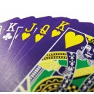 Purple Deck (Face & Back) with Gaff Cards - Bicycle Poker Size Playing Cards
