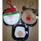 Childrens Christmas Coin Purse - Clip on - Design May Vary
