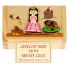 Fairytale Girls Trinket or Money Box - Secret Lock - 6x10.5x6.5cm Handcrafted Christmas Present