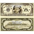 Novelty Dollar American Gangsters Outlaws Wanted Dollar Bills Set of 14 United States