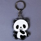 Baby Panda Figure Plastic Pendant Key Ring Chain