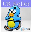 4GB Novelty Cartoon Cute Running Penguin USB Flash Key Pen Drive Memory Stick Gift UK
