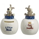 Boofle Pots Of Pennies Mini Money Pot - Little Man