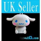 4GB Novelty Cartoon Cute Gray Dog USB Flash Key Pen Drive Memory Stick Gift UK [PC]