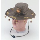Australian Hat with imitation hanging corks.