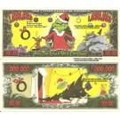 Novelty Dollar How The Grinch Stole Christmas Million Dollar Bills x 4
