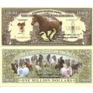 Novelty Dollar Horse Pony Horse's Mustang Million Dollar Bills X 4 New